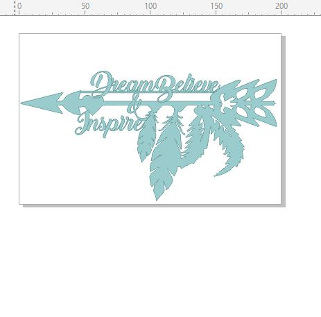 Dream believe and inspire feathers boho  200 x 130mm min buy 3